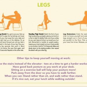 Étirements jambes